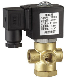 1 / 4 Inch Brass 3 Way Miniature Solenoid Valve Normally Closed NC Low Power